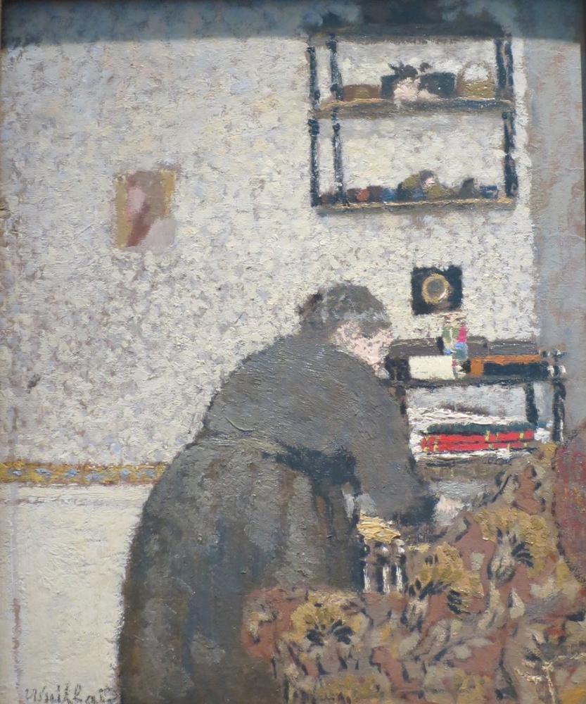 Edouard Vuillard, Çizim Odasında Madam, Kanvas Tablo, Édouard Vuillard, kanvas tablo, canvas print sales