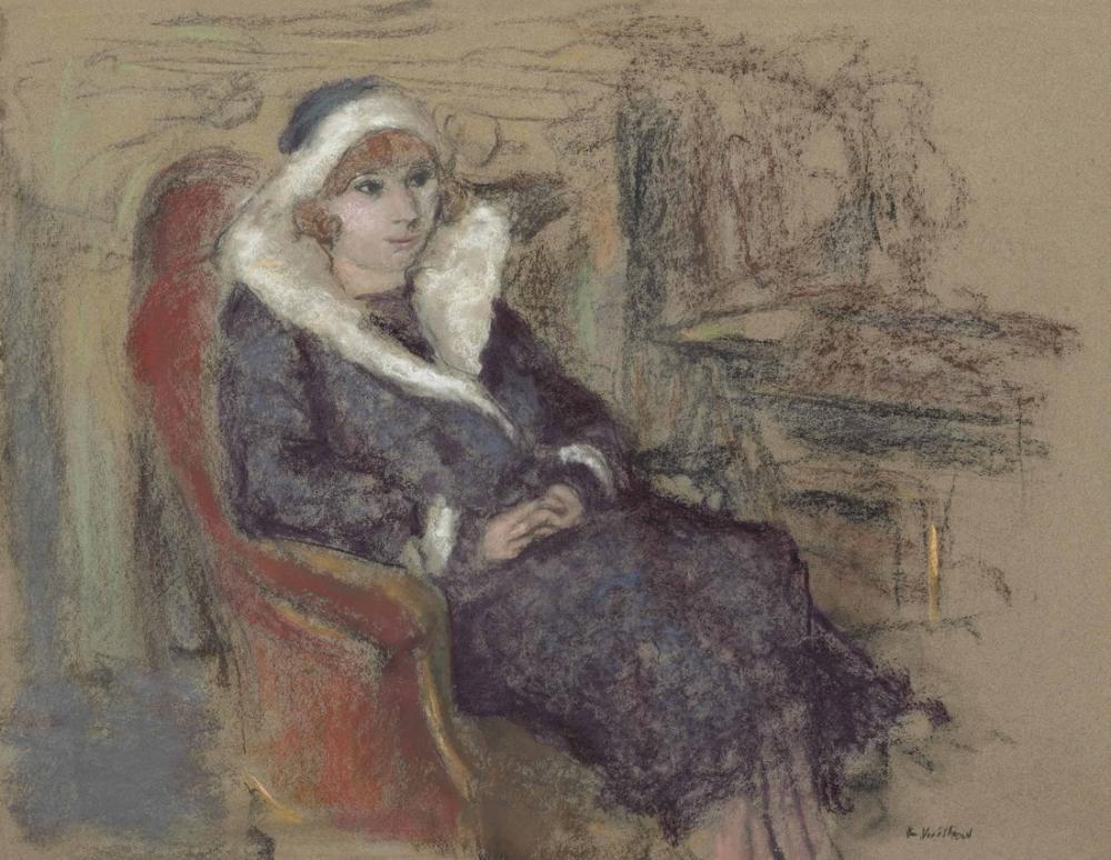 Edouard Vuillard, Madame Louis Viau, Canvas, Édouard Vuillard, kanvas tablo, canvas print sales