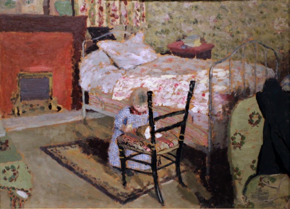 Edouard Vuillard, Annette Roussel ile Kırık Bir Sandalye, Kanvas Tablo, Édouard Vuillard, kanvas tablo, canvas print sales