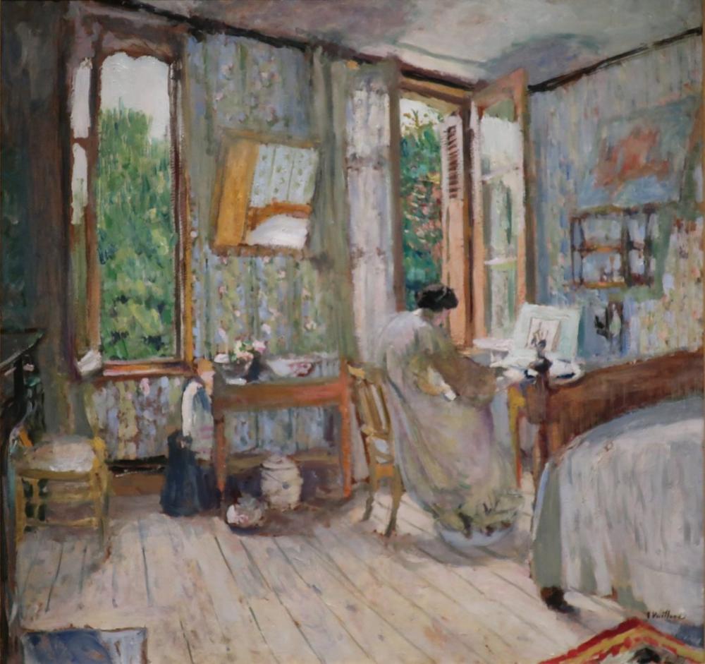 Edouard Vuillard, Madame Lucy Hessel Working at a Dressmaker s Table, Canvas, Édouard Vuillard, kanvas tablo, canvas print sales