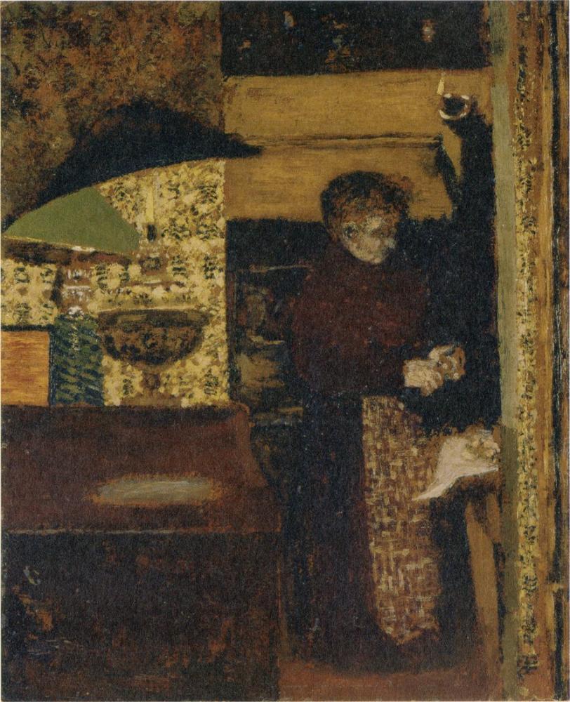 Edouard Vuillard, Madame Peeling Potatoes, Figure, Édouard Vuillard, kanvas tablo, canvas print sales