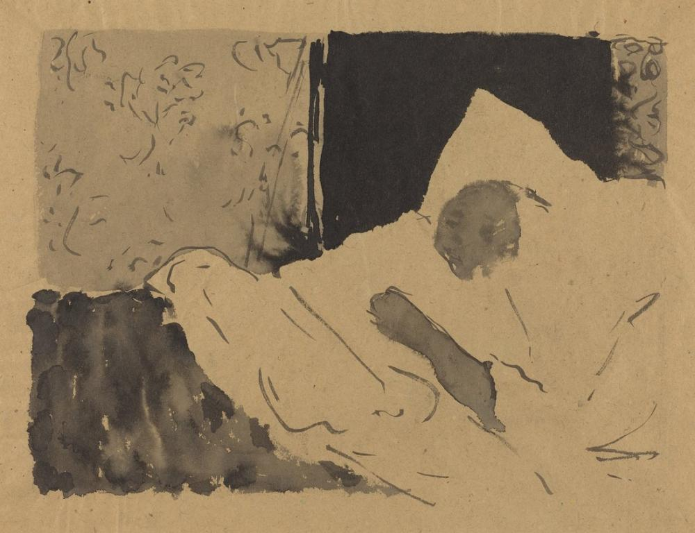 Edouard Vuillard, Madame V Sleeping, Figure, Édouard Vuillard, kanvas tablo, canvas print sales