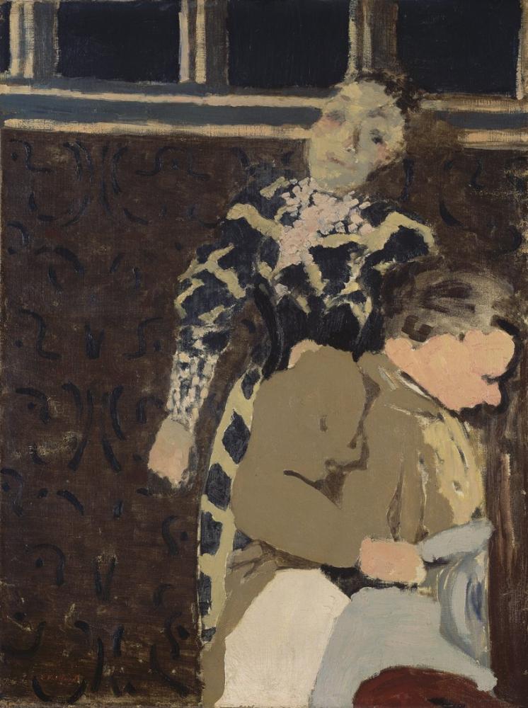 Edouard Vuillard, Marie rêveuse et sa mère, Figure, Édouard Vuillard, kanvas tablo, canvas print sales