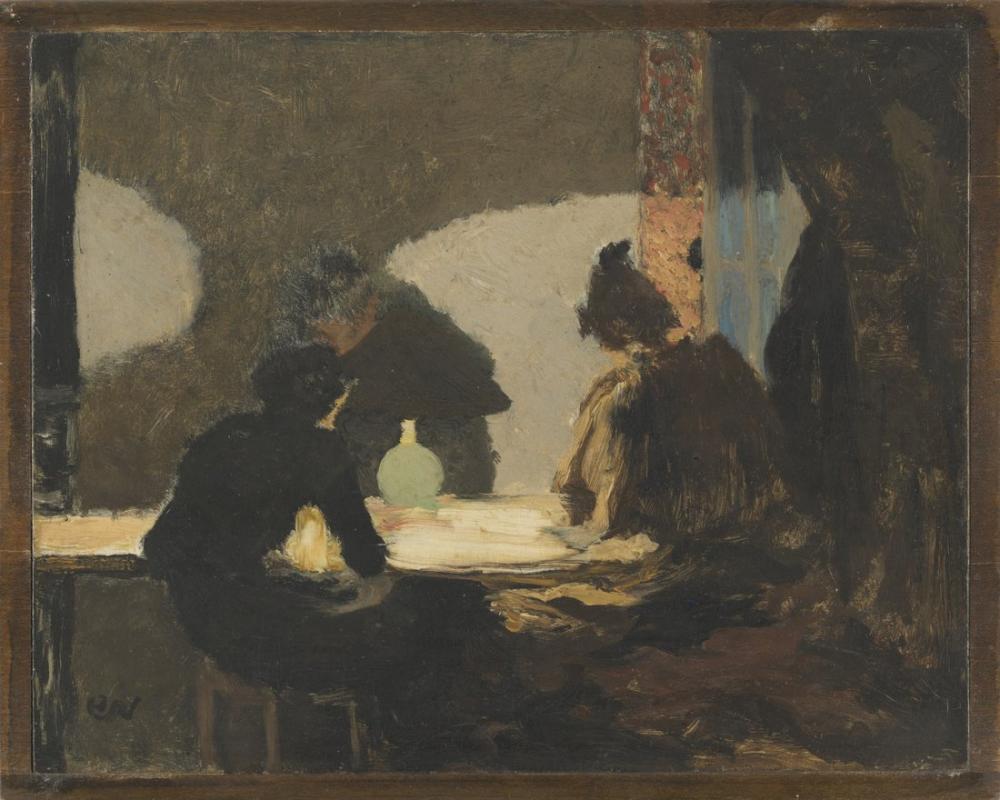 Edouard Vuillard, Misia Nathanson ve Felix Vallotton Vilnius ta, Figür, Édouard Vuillard, kanvas tablo, canvas print sales