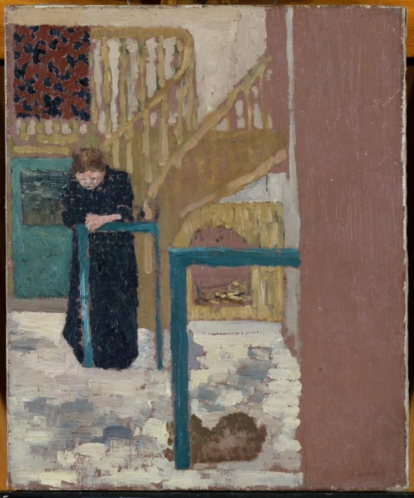 Edouard Vuillard, Mme in a Set Designer s Studio, Figure, Édouard Vuillard, kanvas tablo, canvas print sales