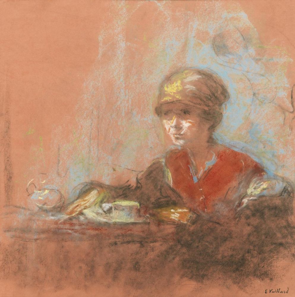 Edouard Vuillard, Kupada Model, Büyük Oyuncak İçin Çalışma, Figür, Édouard Vuillard, kanvas tablo, canvas print sales
