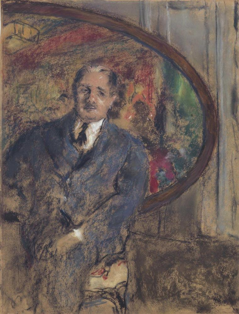 Edouard Vuillard, Monsieur Benard Devant le Tableau du Grand Teddy, Figure, Édouard Vuillard, kanvas tablo, canvas print sales