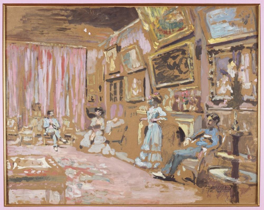 Edouard Vuillard, Parisli Bir Ressam ve Musevi Patronları, Kanvas Tablo, Édouard Vuillard, kanvas tablo, canvas print sales