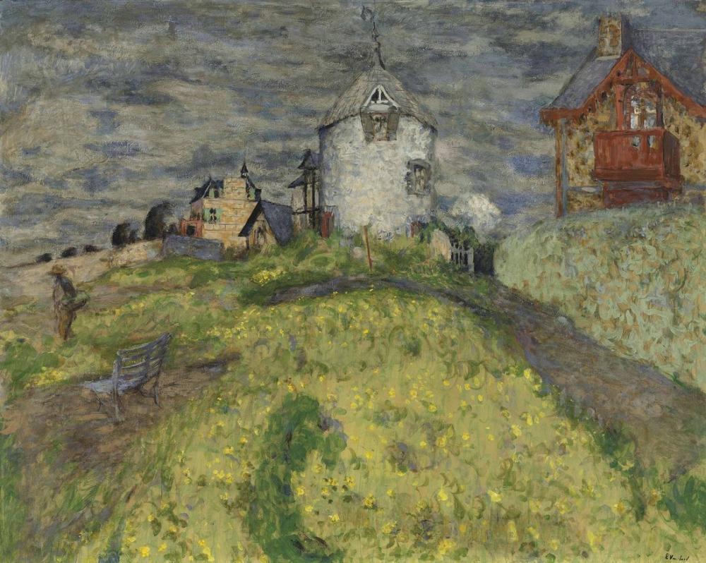 Edouard Vuillard, Moulin à Saint Jacut or Les Villas, Canvas, Édouard Vuillard, kanvas tablo, canvas print sales