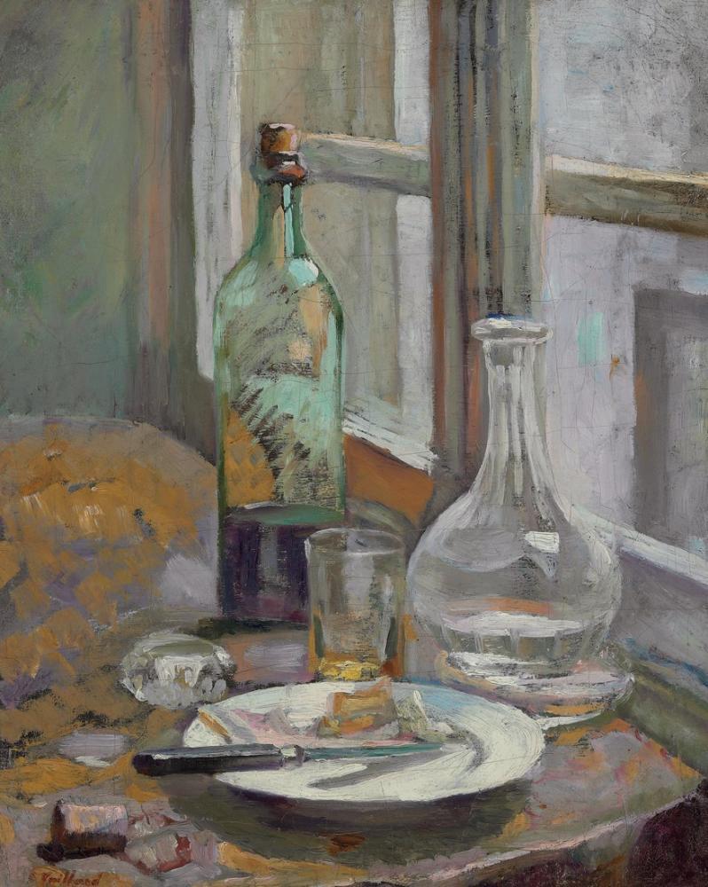 Edouard Vuillard, Şişe ve Sürahi ile Natürmort, Kanvas Tablo, Édouard Vuillard, kanvas tablo, canvas print sales