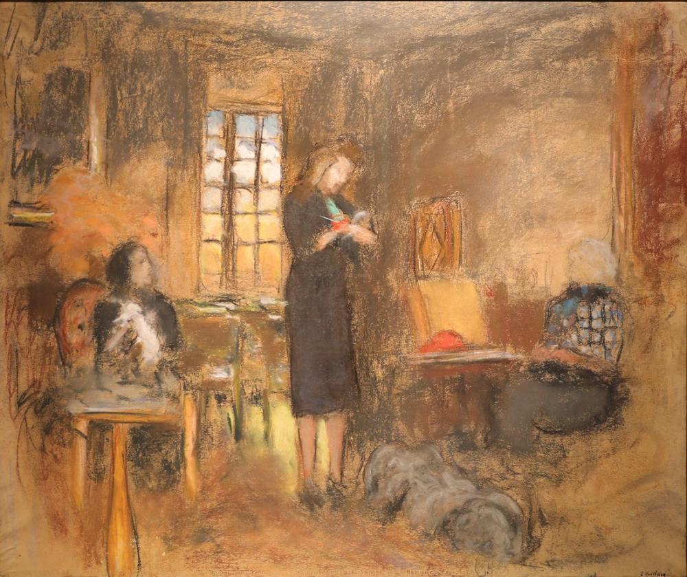 Edouard Vuillard, Nel Salon des Clayes, Figür, Édouard Vuillard, kanvas tablo, canvas print sales