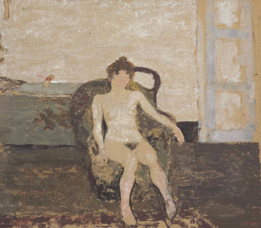 Edouard Vuillard, Nu au Fauteuil, Figure, Édouard Vuillard, kanvas tablo, canvas print sales
