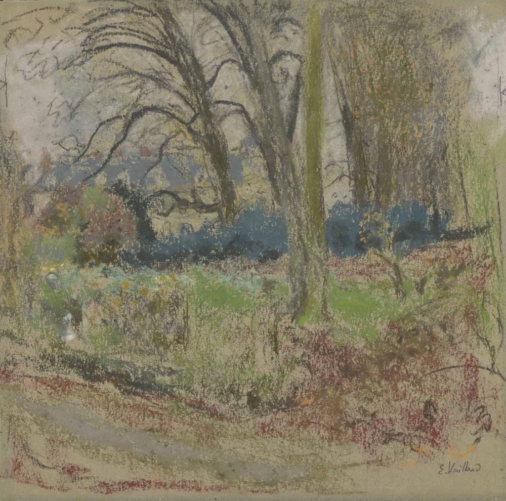 Edouard Vuillard, Kil ile Bir Kış Manzarası, Kanvas Tablo, Édouard Vuillard, kanvas tablo, canvas print sales