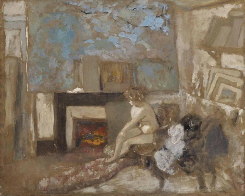 Edouard Vuillard, Nu dans l appartement de la rue Truffaut, Figure, Édouard Vuillard, kanvas tablo, canvas print sales
