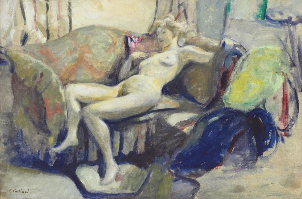 Edouard Vuillard, Nu etendu sur un canape, Canvas, Édouard Vuillard, kanvas tablo, canvas print sales