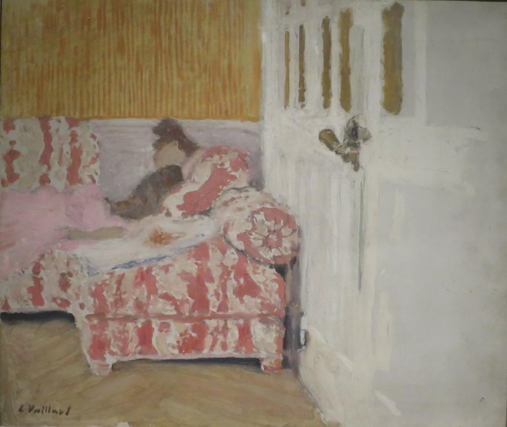 Edouard Vuillard, Kanepede Beyaz Oda, Kanvas Tablo, Édouard Vuillard, kanvas tablo, canvas print sales