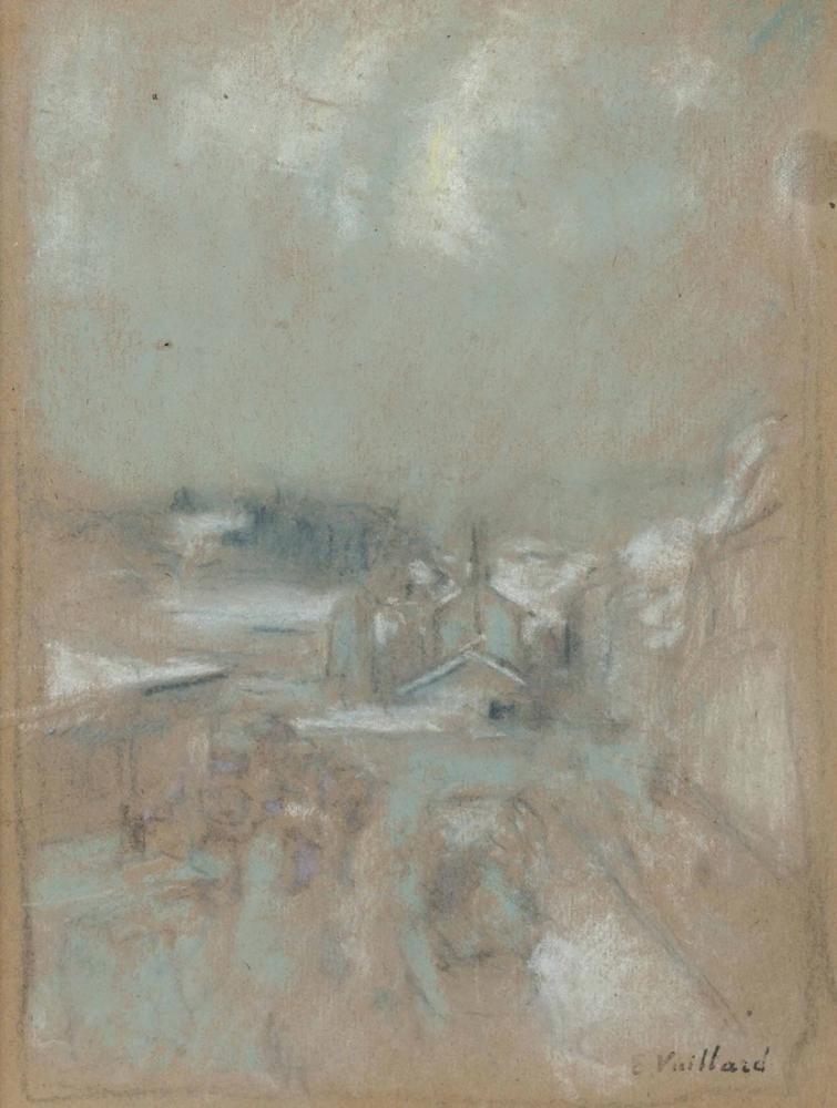Edouard Vuillard, Paysage aux Toits Blancs, Canvas, Édouard Vuillard, kanvas tablo, canvas print sales