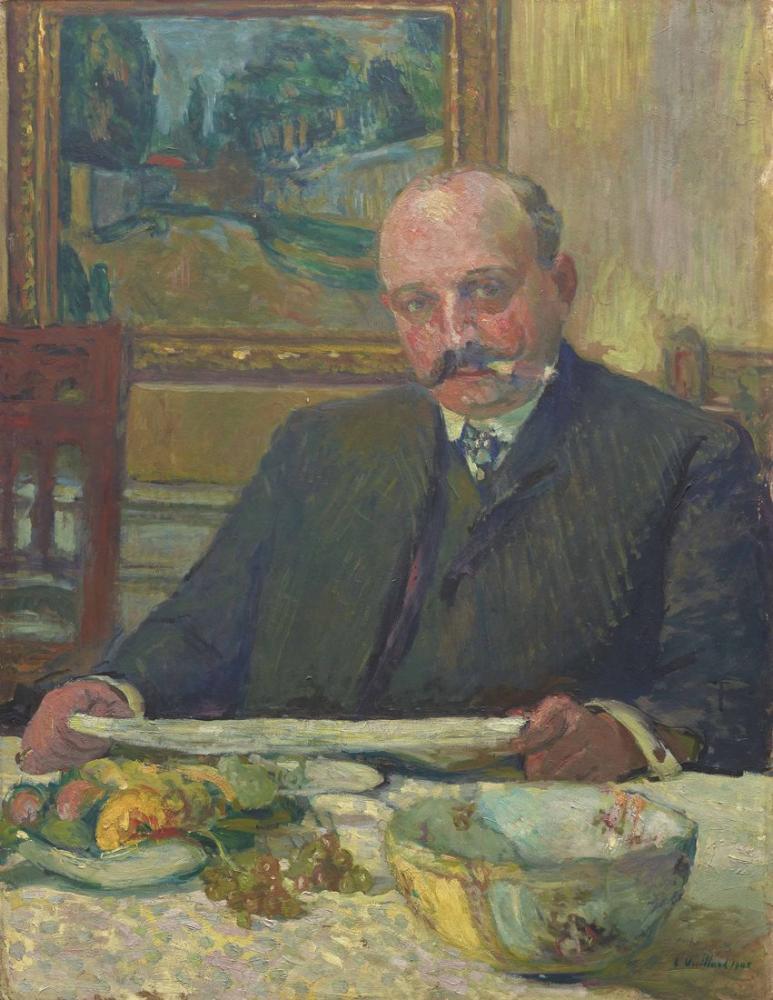 Edouard Vuillard, Jos Hessel in Bir Portresi, Kanvas Tablo, Édouard Vuillard, kanvas tablo, canvas print sales
