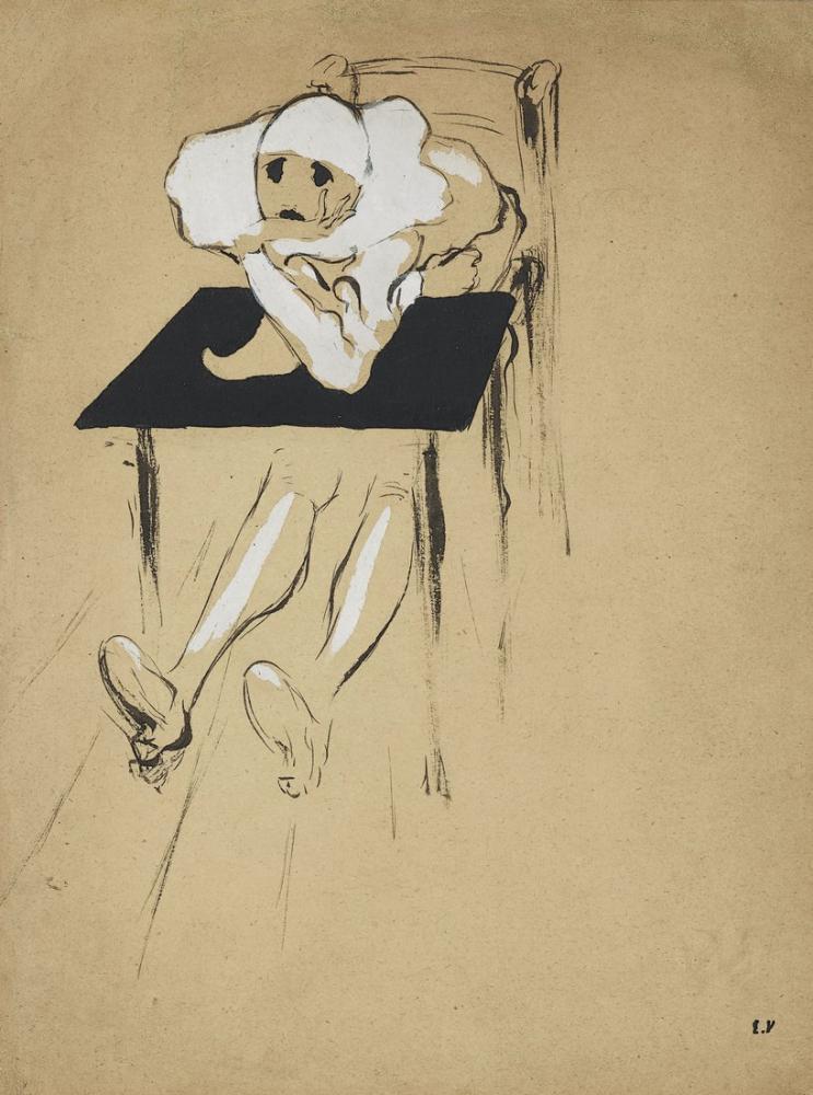 Edouard Vuillard, Pierrot, Figür, Édouard Vuillard, kanvas tablo, canvas print sales