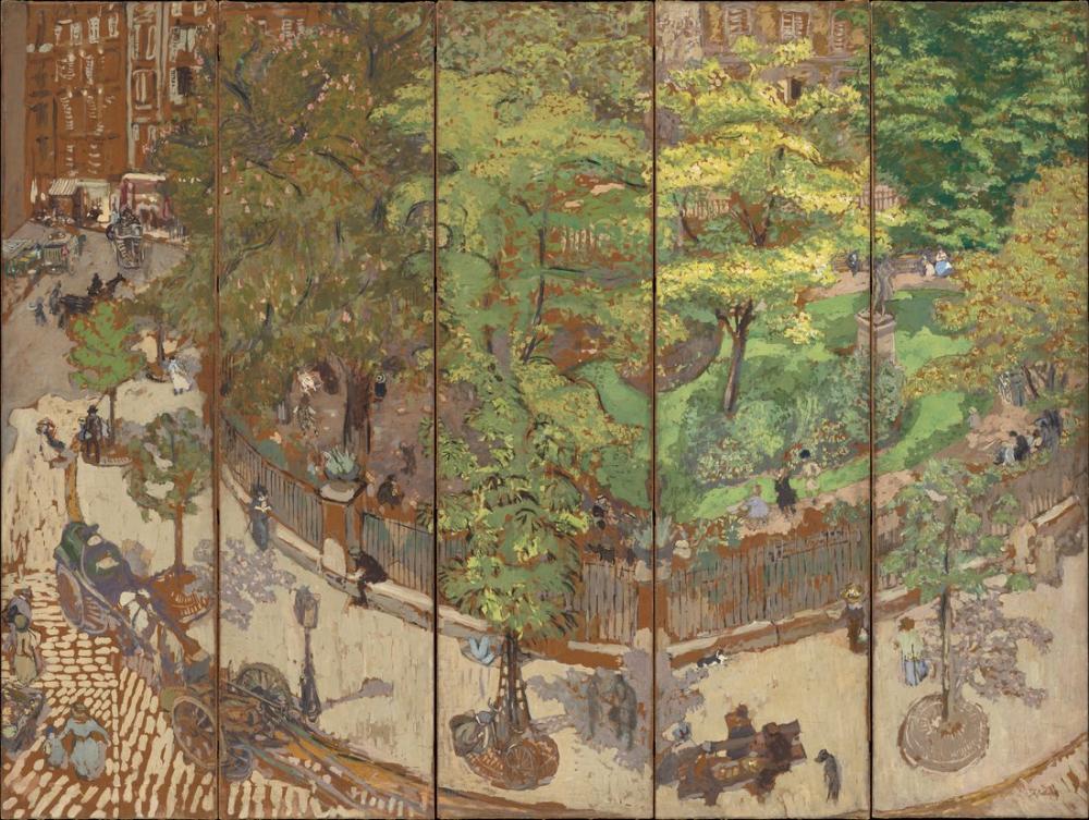 Edouard Vuillard, Place Vintimille, Canvas, Édouard Vuillard, kanvas tablo, canvas print sales