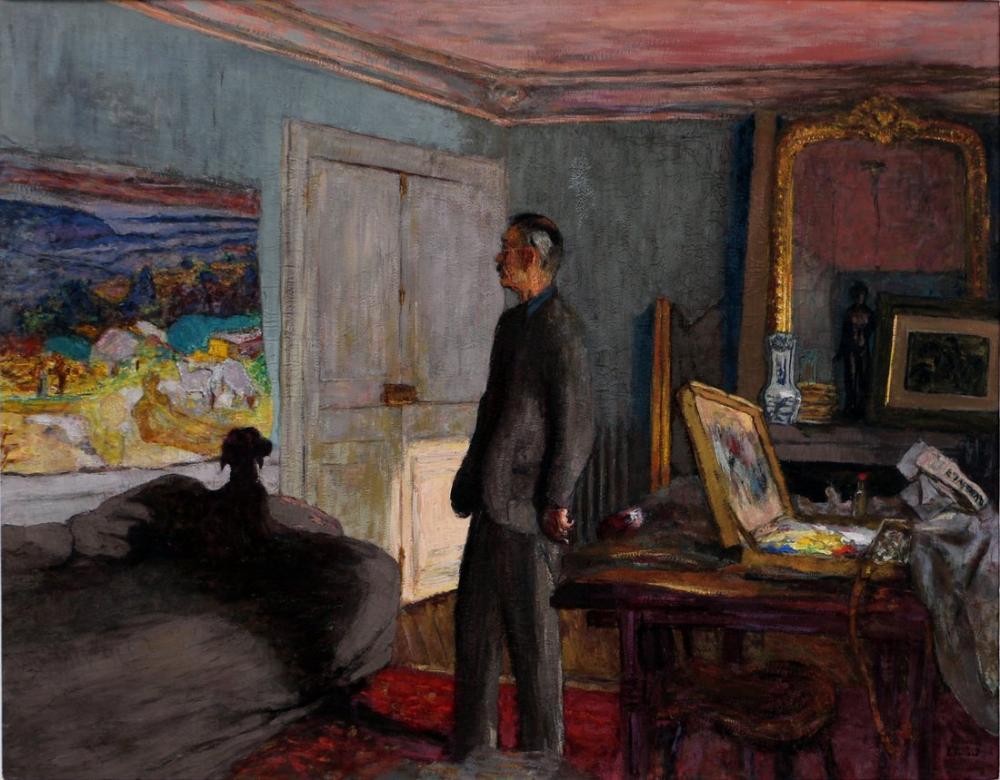 Edouard Vuillard, Portrait of pierre bonnard, Canvas, Édouard Vuillard, kanvas tablo, canvas print sales