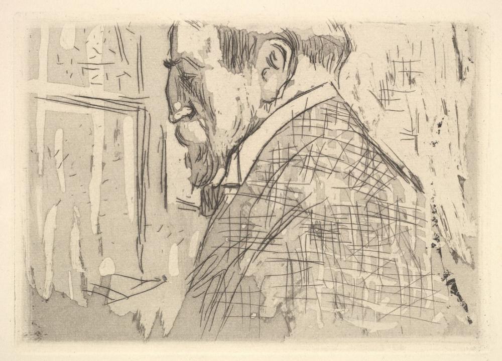 Edouard Vuillard, Postava pred oknem se zatazenymi zavesy II, Canvas, Édouard Vuillard, kanvas tablo, canvas print sales