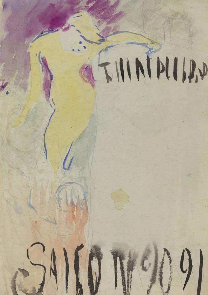 Edouard Vuillard, Özgür Tiyatro için Program Tasarımı, Figür, Édouard Vuillard, kanvas tablo, canvas print sales