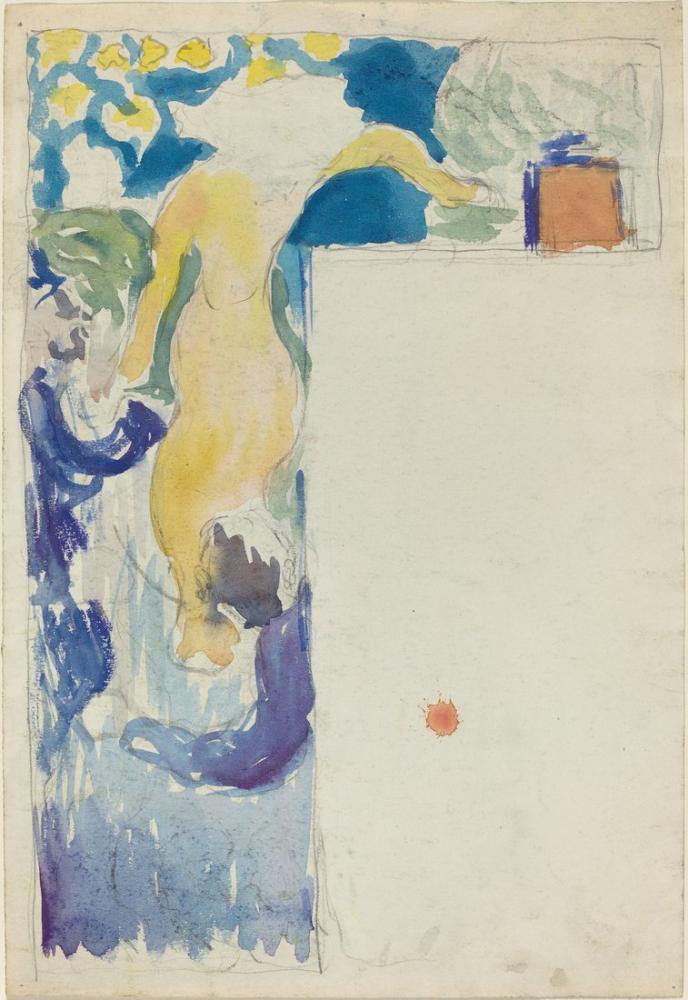 Edouard Vuillard, Program Design for the Théâtre Libre, Figure, Édouard Vuillard, kanvas tablo, canvas print sales