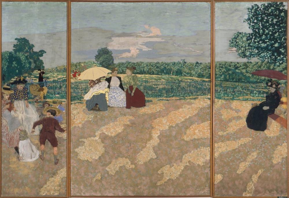 Edouard Vuillard, Public Gardens, Canvas, Édouard Vuillard, kanvas tablo, canvas print sales