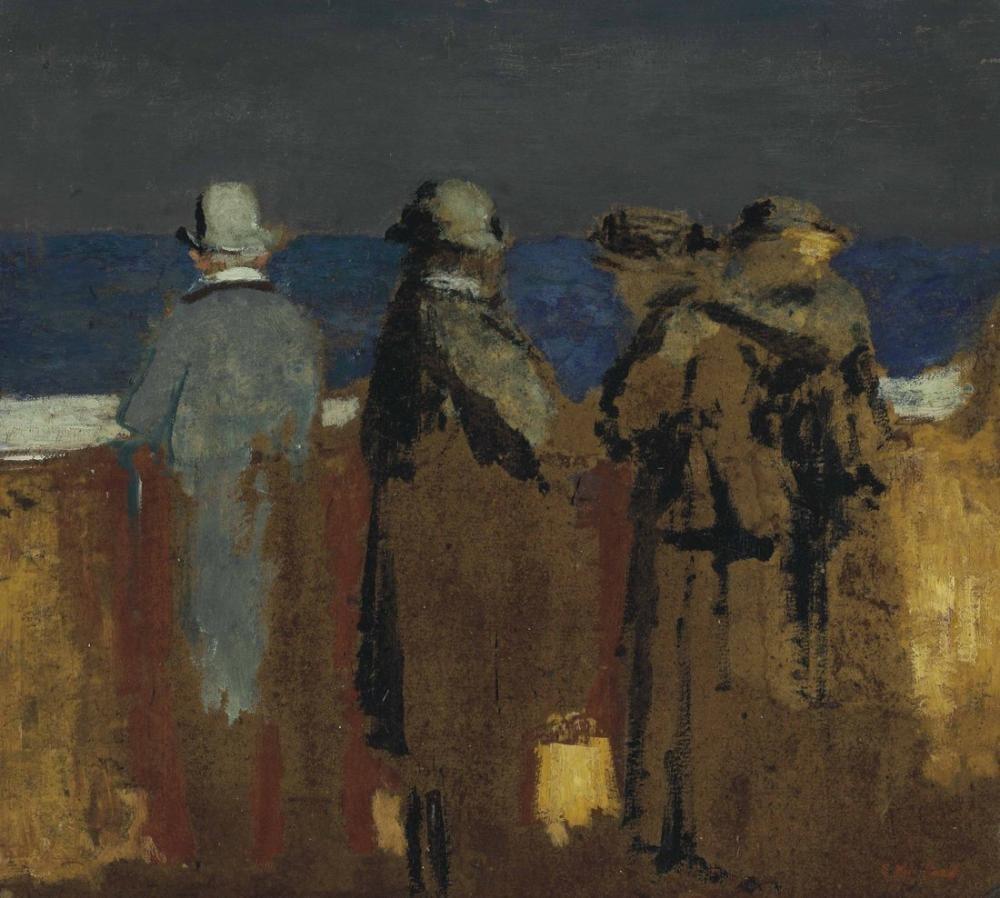 Edouard Vuillard, Quatre Personnages Devant un Parapet, Figure, Édouard Vuillard, kanvas tablo, canvas print sales