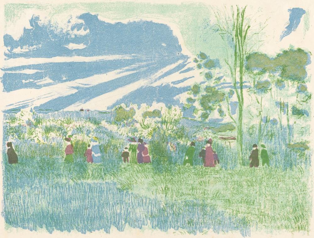 Edouard Vuillard, À Travers Champs, Canvas, Édouard Vuillard, kanvas tablo, canvas print sales