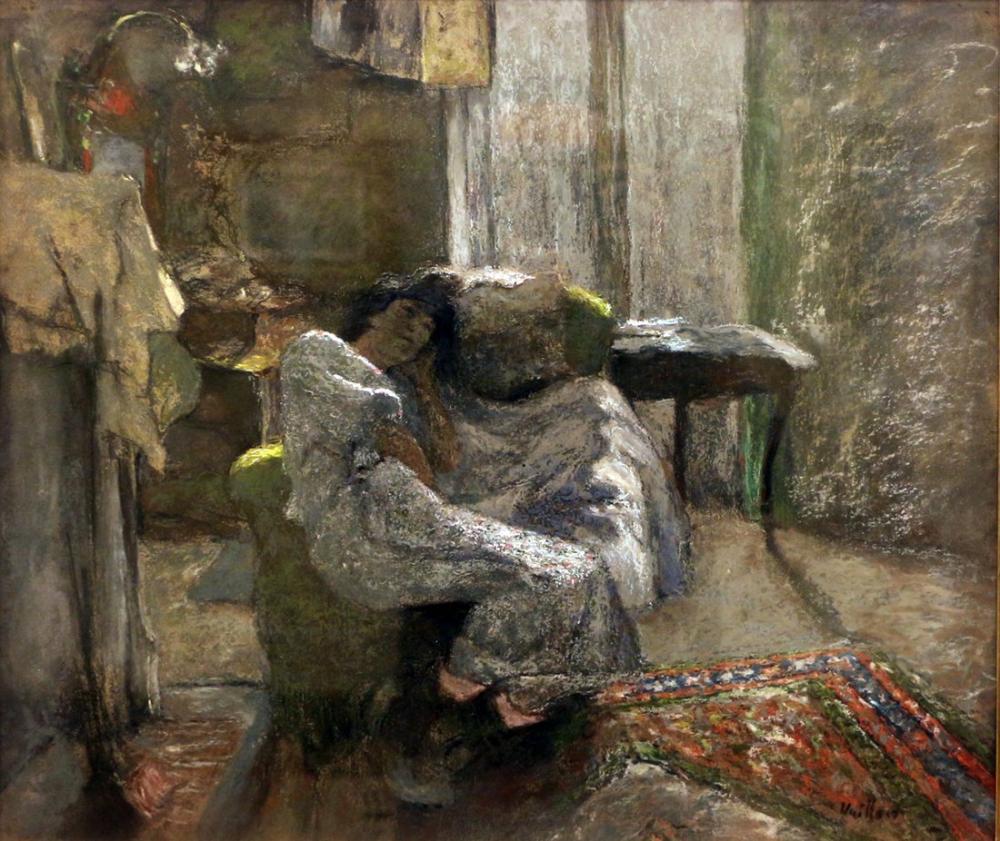 Edouard Vuillard, Ritratto della Signora Hessel, Canvas, Édouard Vuillard, kanvas tablo, canvas print sales