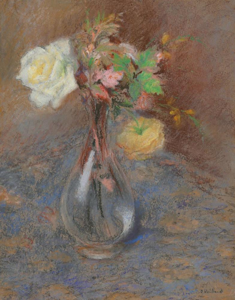 Edouard Vuillard, Roses, Canvas, Édouard Vuillard, kanvas tablo, canvas print sales