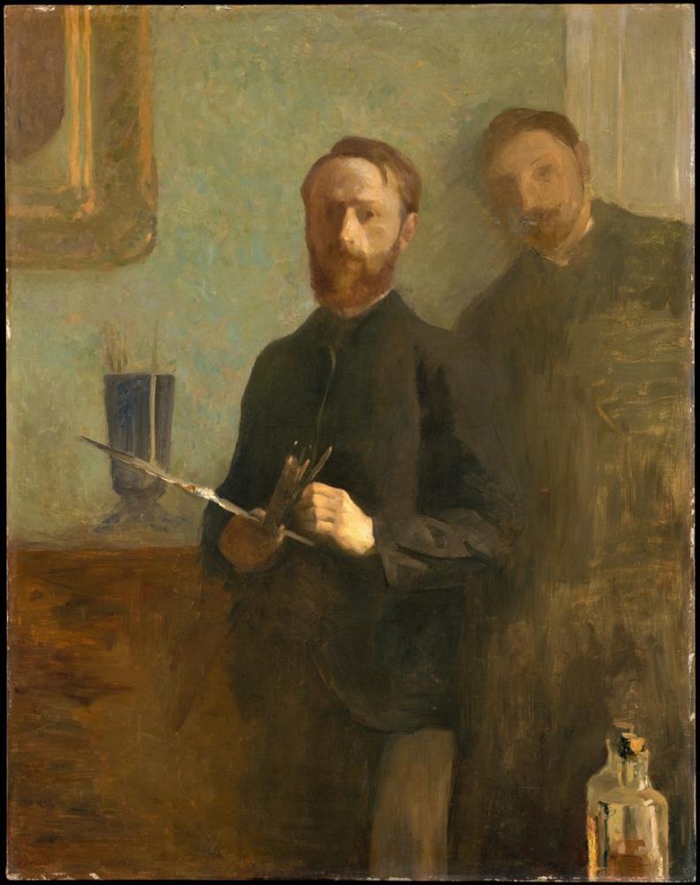 Edouard Vuillard, Waroquy ile Otoportre, Kanvas Tablo, Édouard Vuillard, kanvas tablo, canvas print sales
