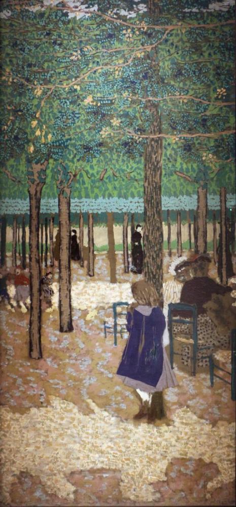 Edouard Vuillard, Sotto gli alberi da giardini pubblici, Canvas, Édouard Vuillard, kanvas tablo, canvas print sales