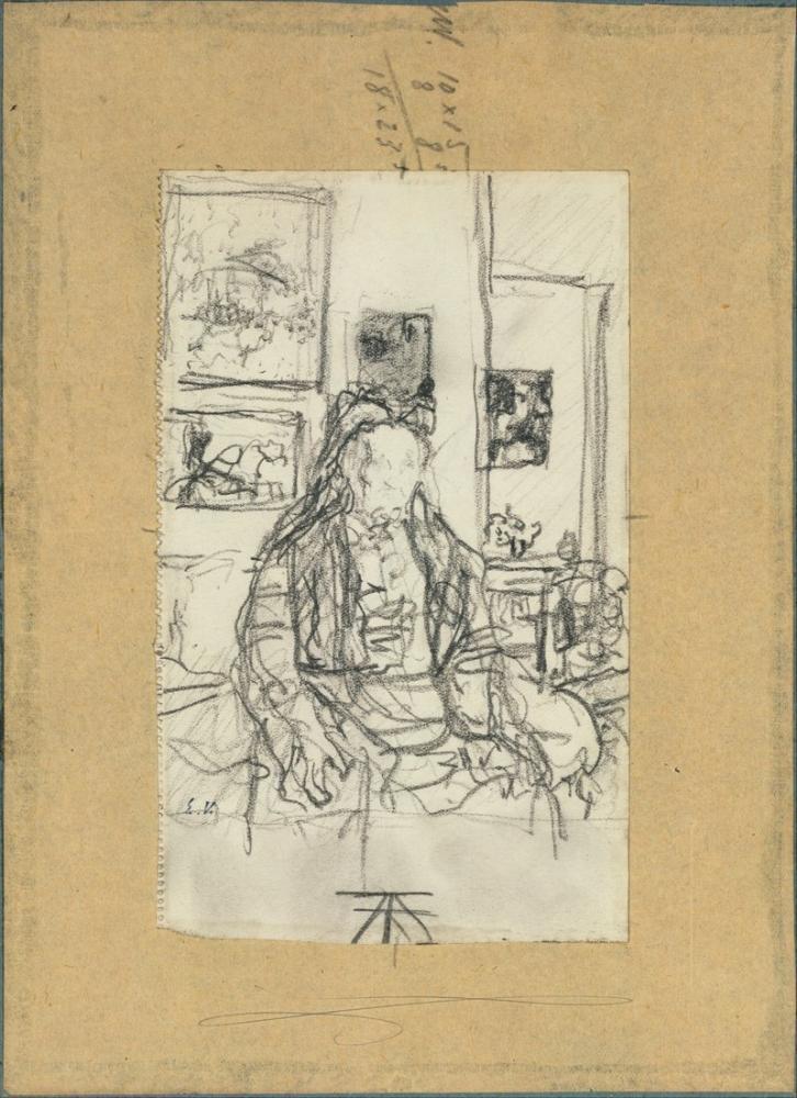 Edouard Vuillard, Sanatçının Annesi, Figür, Édouard Vuillard, kanvas tablo, canvas print sales