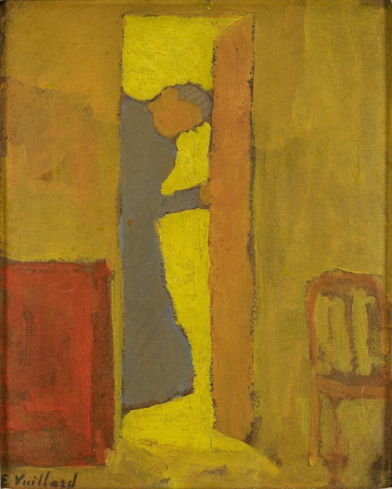 Edouard Vuillard, Sanatçının Annesi Bir Kapı Açıyor, Figür, Édouard Vuillard, kanvas tablo, canvas print sales