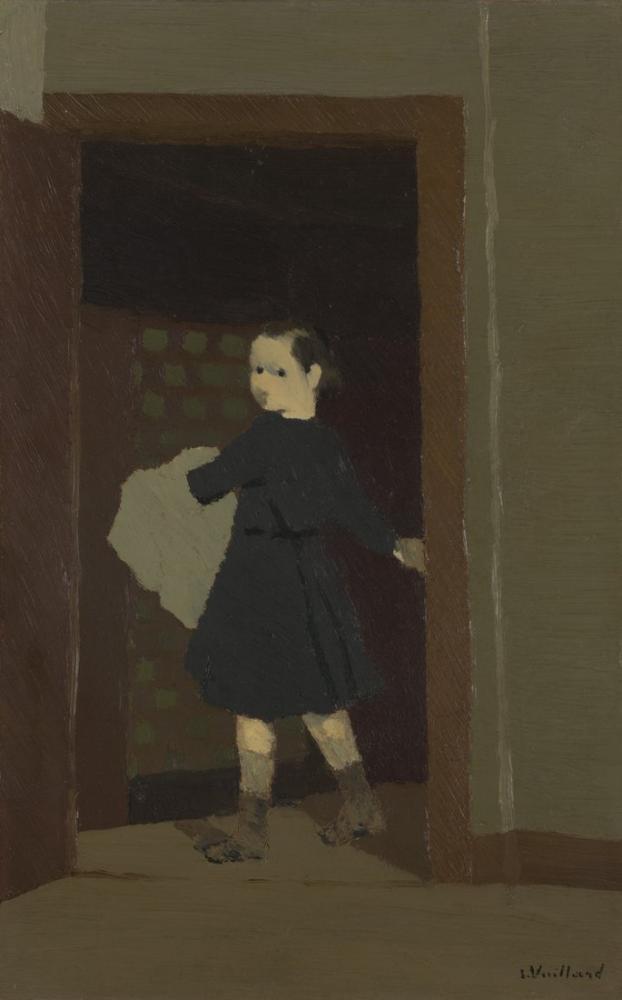 Edouard Vuillard, Kapıdaki Çocuk, Figür, Édouard Vuillard, kanvas tablo, canvas print sales