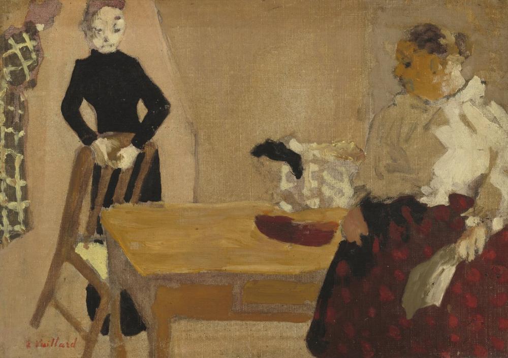 Edouard Vuillard, The Conversation, Figure, Édouard Vuillard, kanvas tablo, canvas print sales