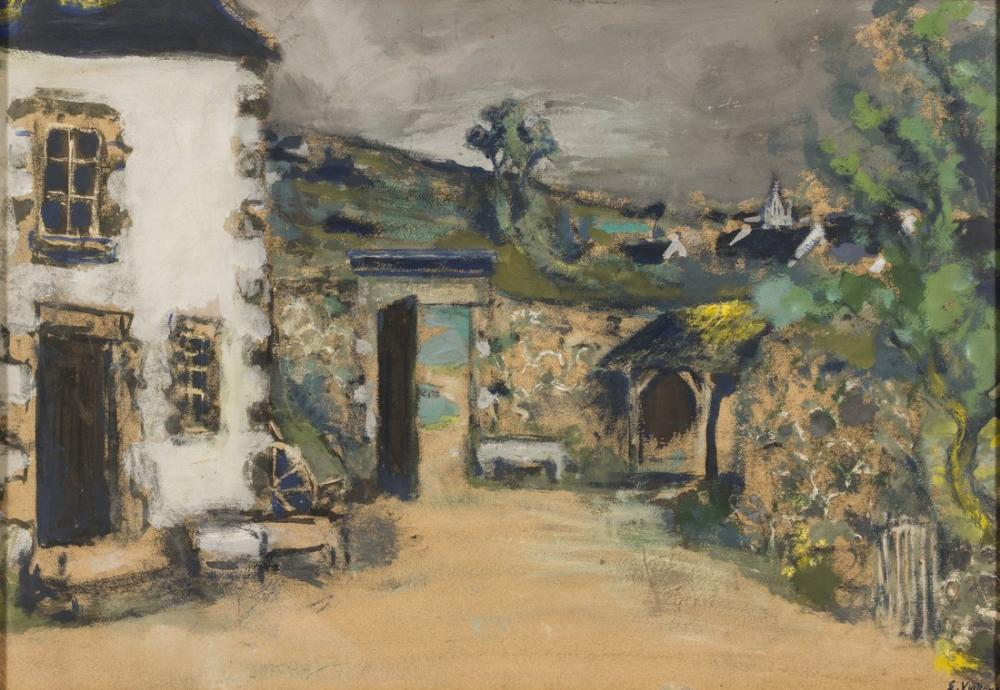 Edouard Vuillard, The Farmhouse Nationalmuseum, Canvas, Édouard Vuillard, kanvas tablo, canvas print sales