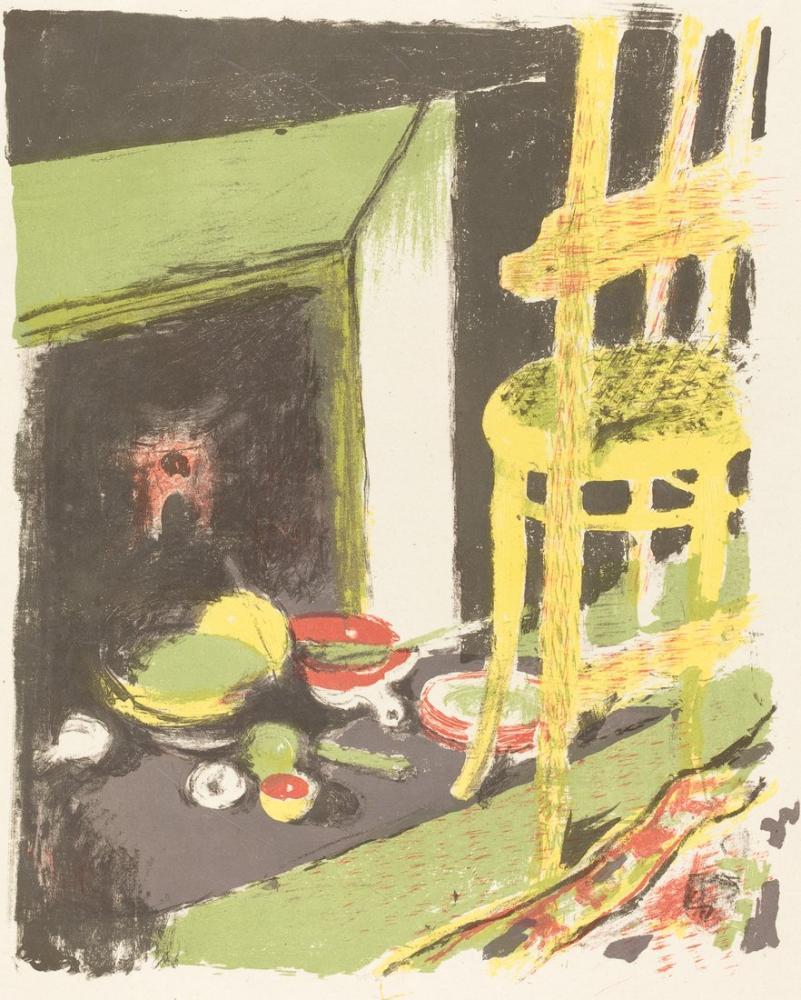 Edouard Vuillard, The Hearth L atre, Figür, Édouard Vuillard, kanvas tablo, canvas print sales