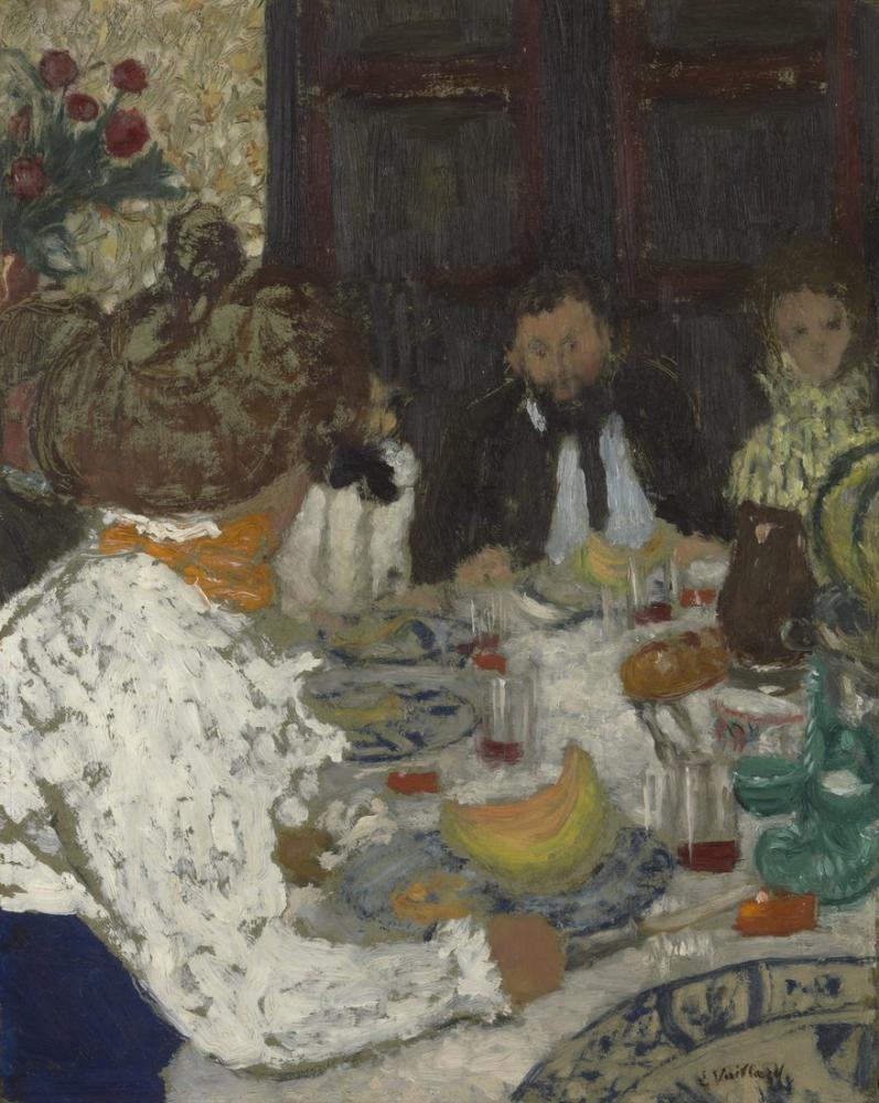 Edouard Vuillard, Öğle Yemeği, Figür, Édouard Vuillard, kanvas tablo, canvas print sales