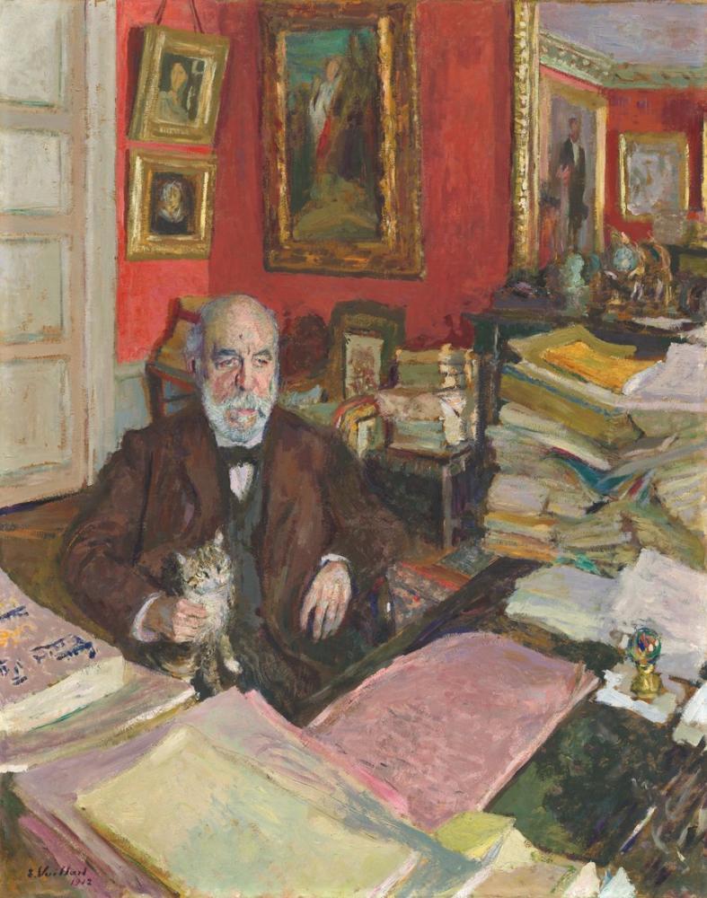 Edouard Vuillard, Théodore Duret, Kanvas Tablo, Édouard Vuillard, kanvas tablo, canvas print sales
