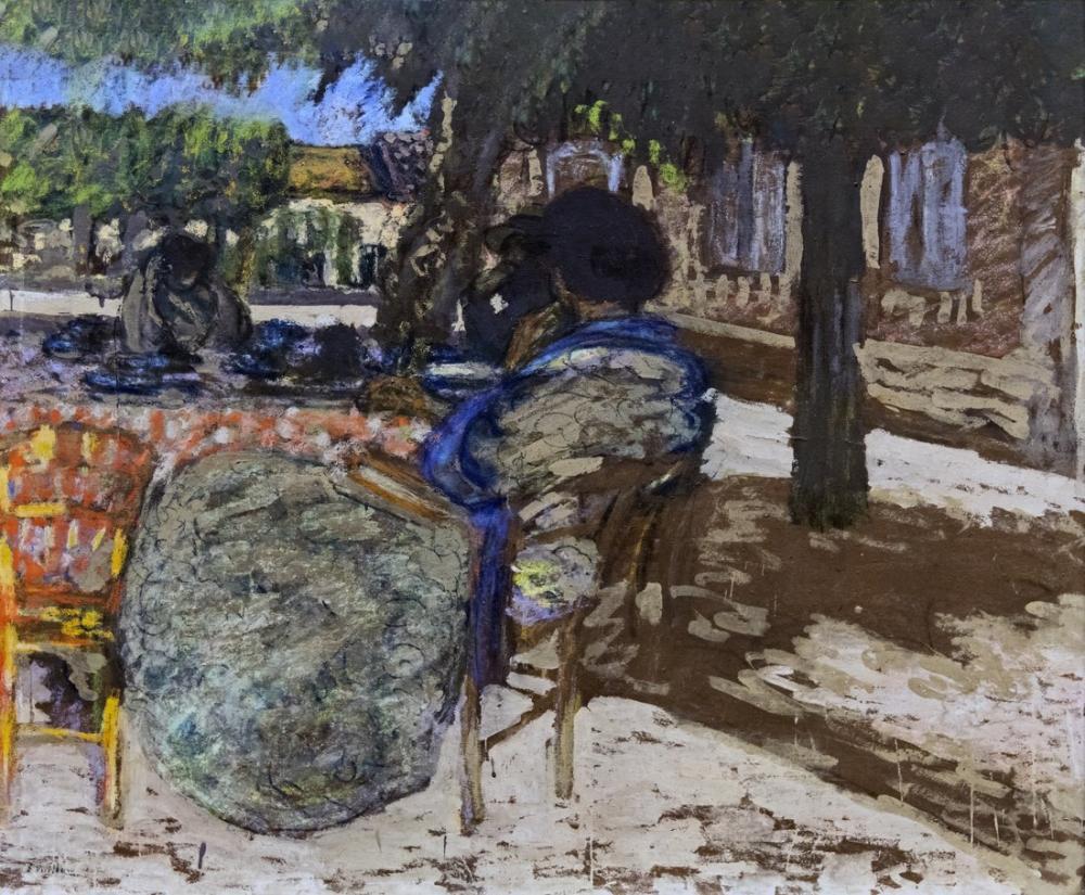 Edouard Vuillard, Augustins Sous Kırmızı Bayraklı Ağaçlar Inv. D, Kanvas Tablo, Édouard Vuillard, kanvas tablo, canvas print sales
