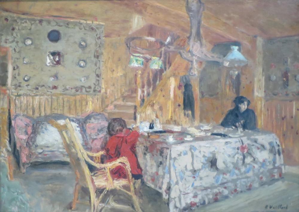 Edouard Vuillard, The Pitch Pine Room, Figure, Édouard Vuillard, kanvas tablo, canvas print sales