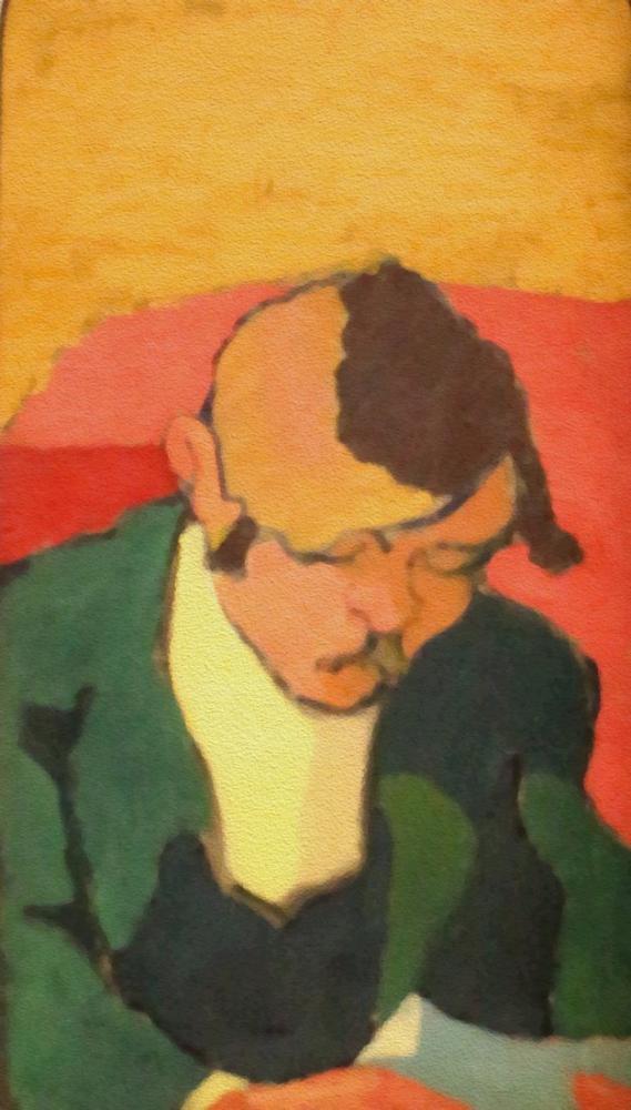 Edouard Vuillard, K.X Roussel in Portresi Okuyucu, Figür, Édouard Vuillard, kanvas tablo, canvas print sales