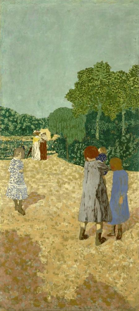 Edouard Vuillard, The Promenade, Canvas, Édouard Vuillard, kanvas tablo, canvas print sales