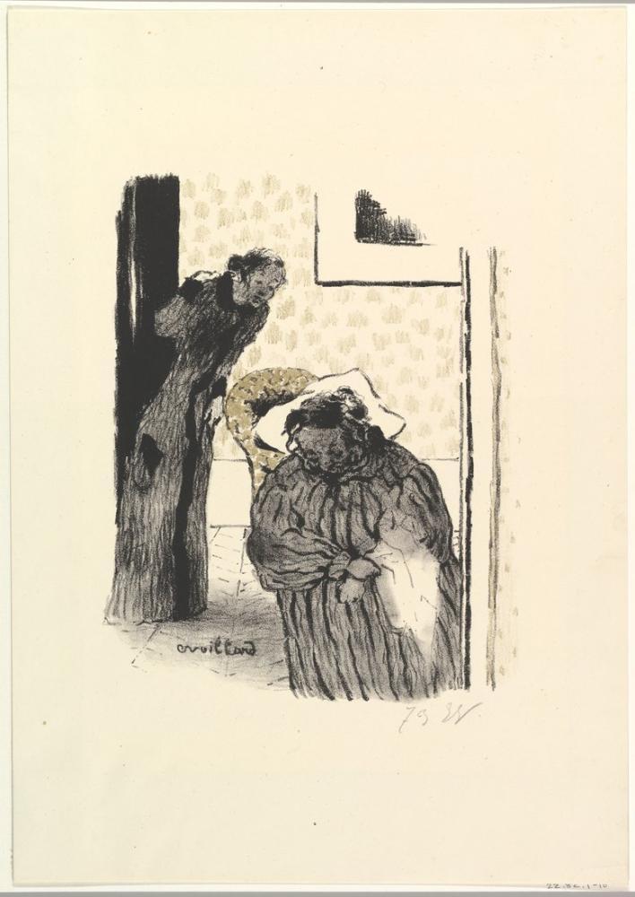 Edouard Vuillard, Siesta veya İstirahat, Figür, Édouard Vuillard, kanvas tablo, canvas print sales