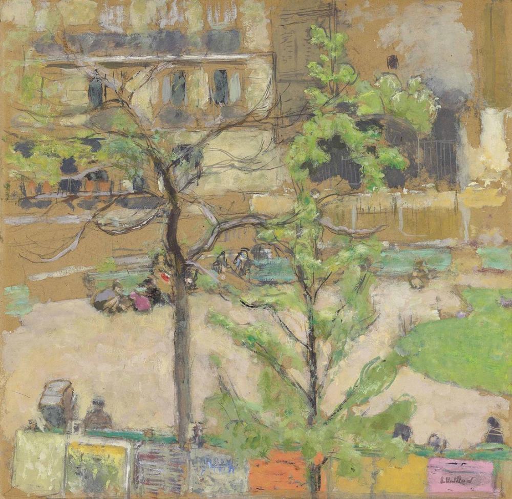 Edouard Vuillard, The Square Berlioz, Figure, Édouard Vuillard, kanvas tablo, canvas print sales