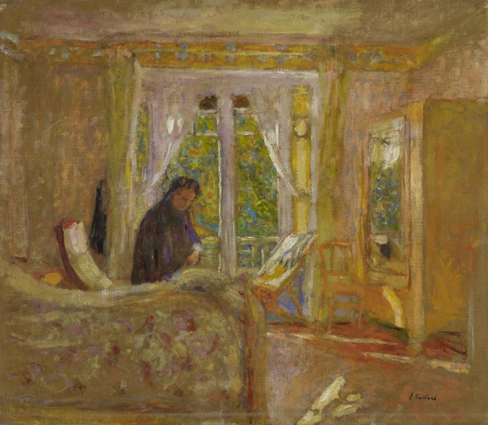 Edouard Vuillard, Güneşli Oda, Figür, Édouard Vuillard, kanvas tablo, canvas print sales